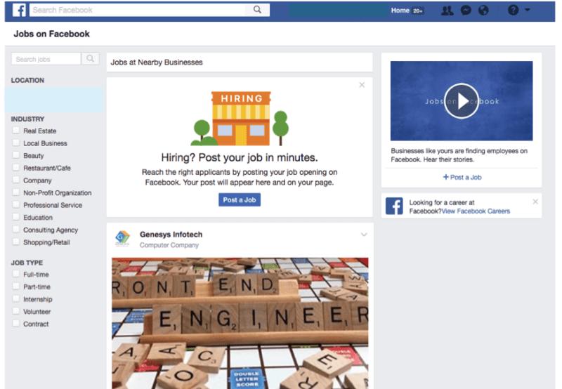 1.jobs on facebook