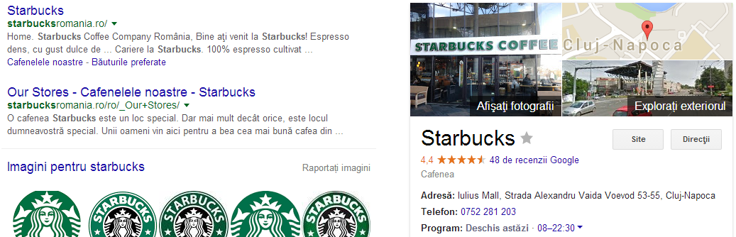 Promovare AdWords - Google My Business ramane in dreapta