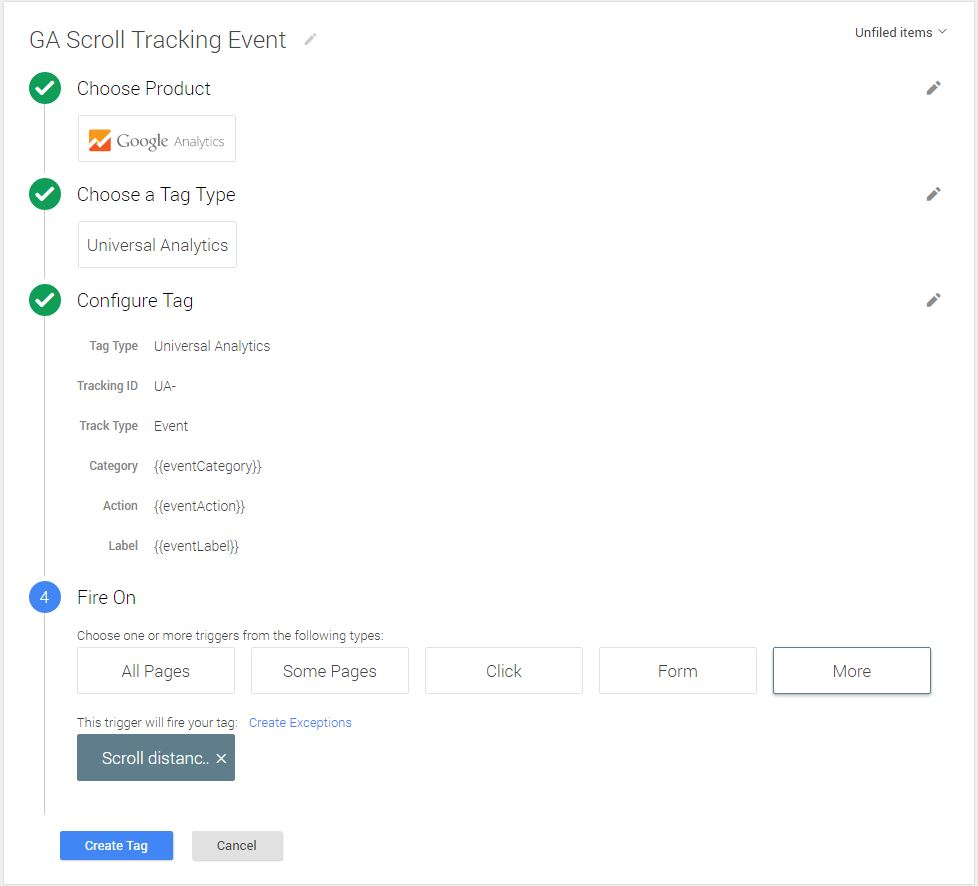 Cum setezi Scroll Tracking folosind Google Tag Manager